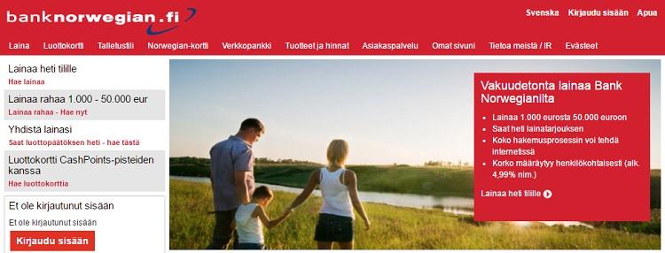 Hae Bank Norwegian luottokortti