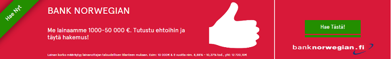 Hae pankkilainaa Bank Norwegian pankista!