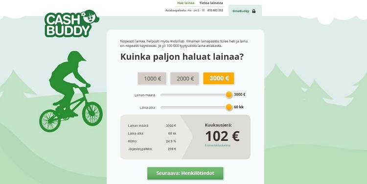 Hae nopeaa lainaa CashBuddy.fi palvelusta!