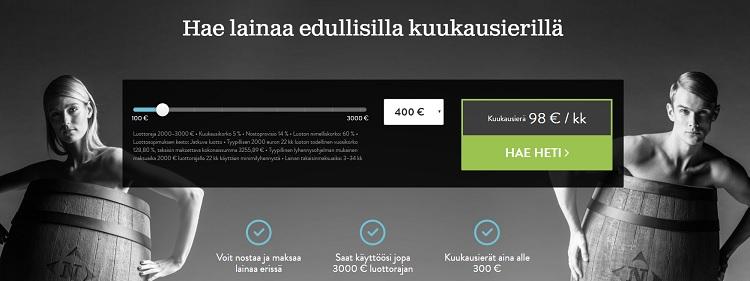Hae joustavaa lainaa NordCredit.fi palvelusta!
