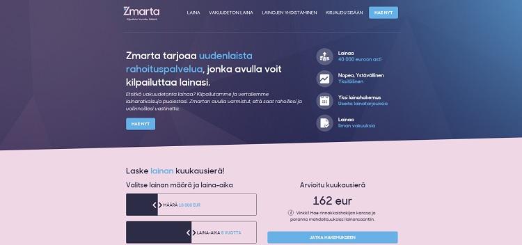 Hae lainaa Zmarta.fi palvelusta!
