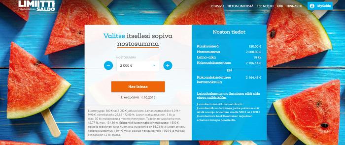 Limiitti.fi lainaa edullisesti.