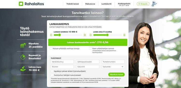 RahaLaitos.fi lainaa tästä