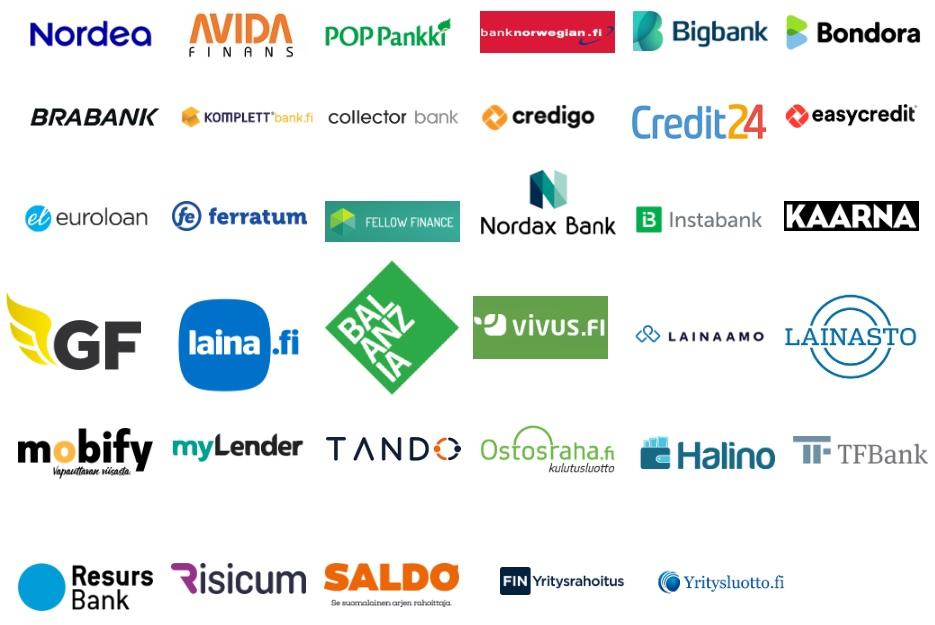 Pankit ja muut luotonantajat