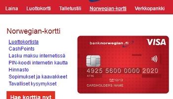 Bank Norwegian – Luottokortti